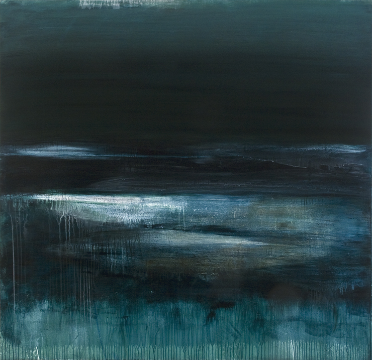 Deep Lake (54x56 Acrylic on Linen 2013)