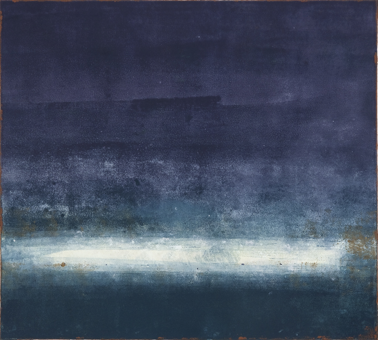 Sea of Days III (30x22 Monotype 2014)