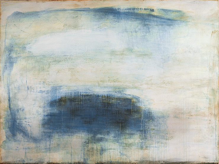 Beyond the Storm (54x72 handmade paint on Venetian plaster on linen over panel 2016)
